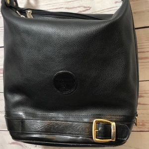 Valentina Sling Black Leather Hobo Bag